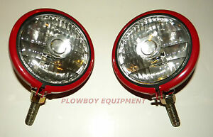 6 V Headlight Pair For Farmall super A C H M 100 130 200 300 350 400 450 Cub