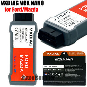 Newest Vxdiag Vcx Nano For Ford Mazda 2in1 With Ids V107 With Unlocked Firmware