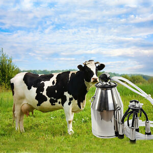 Portable Dairy Milker Milking Machine Bucket Tank Barrel