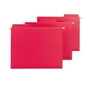 Fastab Hanging File Folders Letter Red 20 box