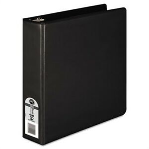 Economy Vinyl Round Ring View Binder 11 X 8 1 2 2 Capacity Black