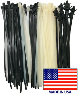 4 48 Inch Black Cable Ties Wire Zip Wrap Std Hd Mounting Resealable Usa