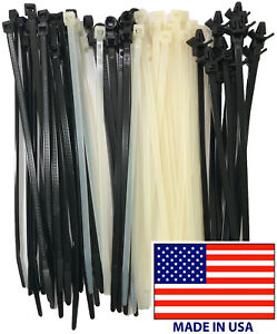 4 To 36 Std Hd Usa Made Black Wire Cable Zip Uv Nylon Tie Wraps Shop Packs