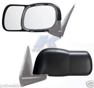 2002 2008 Dodge Ram 1500 Clip Snap on Towing Side Mirror Extension pair