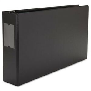 Wide Base Round Ring Binder With Label Holder 3 Capacity 11 X 17 Black X2