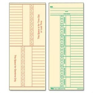 Time Card For Cincinnati Named Days Two sided 3 3 8 X 8 1 4 500 box 2 Pack