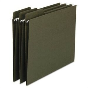 Fastab Recycled Hanging File Folders Letter Green 20 box 2 Pack