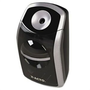Sharpx Portable Pencil Sharpener Battery Operated Black silver 2 Pack