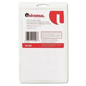 Permanent Self adhesive Color coding Labels 3 4in Dia White 1008 pack 2 Pack