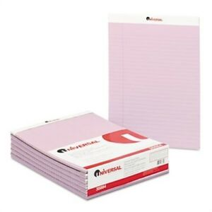 Colored Perforated Note Pads 8 1 2 X 11 Orchid 50 sheet Dozen 2 Pack