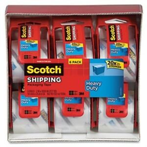 3850 Heavy duty Packaging Tape In Sure Start Disp 1 88 X 22 2yds 6 pack