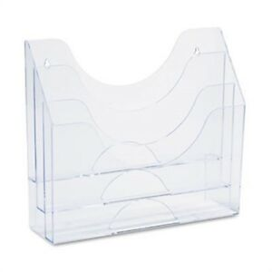 Three pocket File Folder Organizer Plastic 13 X 3 1 2 X 11 1 2 Clear 2 Pack
