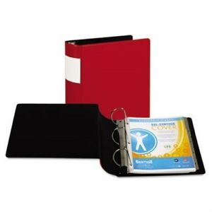 Top Performance Dxl Locking D ring Binder With Label Holder 4 Capacity Red X2