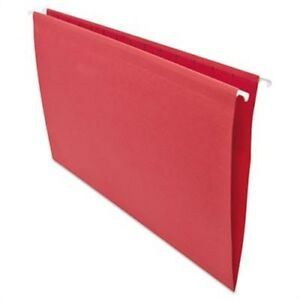 Hanging File Folders 1 5 Tab 11 Point Stock Legal Red 25 box 2 Pack