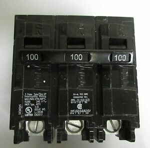 Siemens Q3100 3 Pole 100 Amp 240 V Type Qp Plug In Breaker
