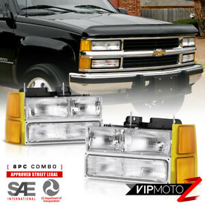 For 94 98 Chevy C10 C k Suburban Tahoe Headlight Bumper Corner Turn Signal Lamp