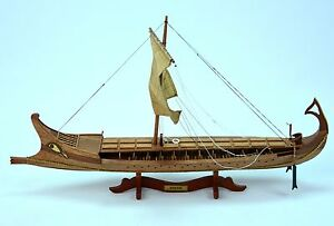 Bireme Ancient Ship 32 Handcrafted Wooden Ship Model