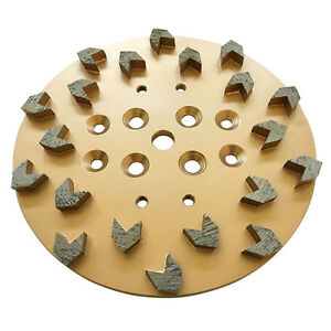 10 25 30 Arrow Diamond Concrete Grinding Head Disc Plate For Edco Floor Grinder