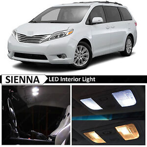 White Interior Led Lights Replacement Package Kit For 2011 2015 Toyota Sienna