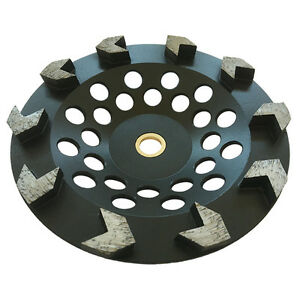7 Arrow Seg Diamond Grinding Cup Wheel For Angle Grinders 7 8 5 8 Concrete