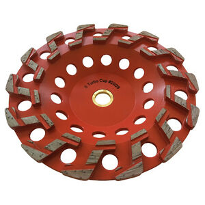 7 20 25 Aggressive Diamond Grinding Concrete Cup Wheels For 7 8 5 8 Arbor