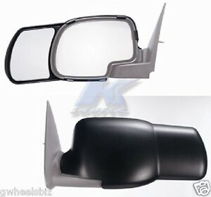1999 2006 2007 Silverado Sierra Clip Snap On Towing Side Mirror Extension