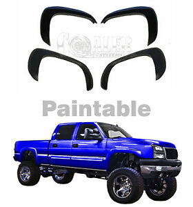Truck Suv Chevy Gmc Front And Rear Fender Flares Full 4 Pc Set Easy Installation