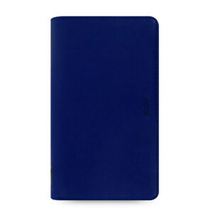 Filofax Compact Zip Pennybridge Organiser Diary Book Cobalt Blue Leather 028038