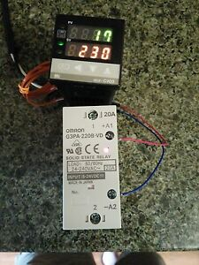Set Of Temperature Controller used Thermocouple Ssr W Heatsink Warranty
