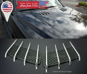 1 Pair Euro Hood Engine Vent Grill Louvered Scoop Cover Panel Kit For Benz usa
