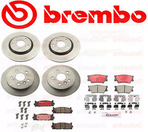 Complete Brembo Brake Rotors And Pads Kit Fits Lexus Es350 Toyota Camry Avalon