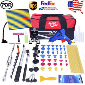 84x Pdr Tools Auto Body Dent Repair Kit Dent Puller Lifter Hail Damage Removel