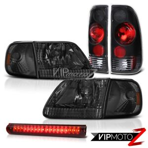 97 98 99 00 F150 Lariat Tinted Headlamp Rear Signal Brake Lights Roof Led Red