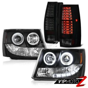 2007 2014 Chevy Suburban Tahoe Lt Ltz Ccfl Halo Headlights Smoke Led Tail Lights