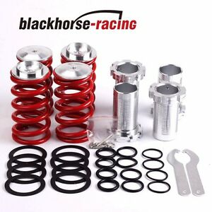 1 4 lowering Scaled Suspension Coilover Red Spring Fits 88 00 Civic Eg Ej Ek dc