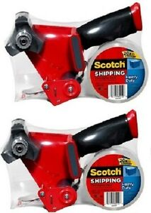 2 Ea 3m Scotch 3850 st Heavy Duty Packaging Tape With Dispenser