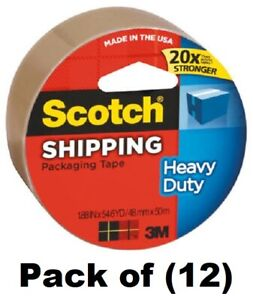 12 Rolls 3m Scotch 3850t 2 X 54 6 Yards Tan Shipping Packing Packaging Tape