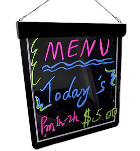 Frameless Led Writing Board 24 X 19 Menu Specials Business Diy Rewritable Sign