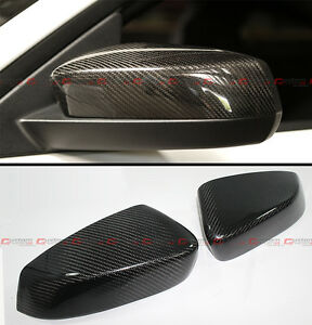 For 2010 2014 Ford Mustang Gt Direct Add On Carbon Fiber Side Mirror Cover Caps