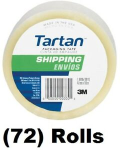 72 Ea 3m Tartan 3710 dc 1 88 X 54 6 Yd Clear Packing Packaging Shipping Tape