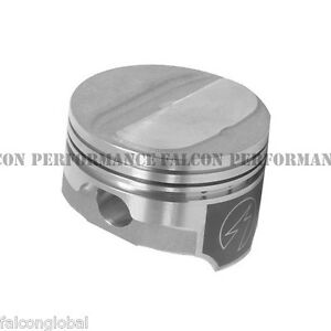 Speed Pro Chevy 350 Forged Dome Coated Pistons File Fit Race Rings 10 5 1 30