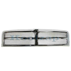 New 94 02 Ram Pickup Truck Front Chrome Grill Grille Assembly Ch1200178 55055252