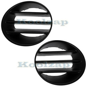 02 04 Liberty Front Bumper Fog Lamp Grill Grille Cover Left Right Side Set Pair