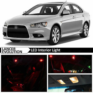 Red Led Lights Interior Package 2007 2015 Mitsubishi Lancer Evolution X