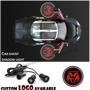 2x Cree Car Door Led Welcome Laser Projector Logo Ghost Shadow Light For Dodge