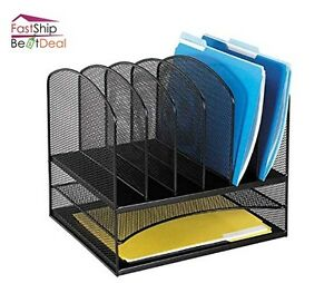 Safco Office Desktop File Folder Storage Organizer Shelf Letter Tray Steel Mesh