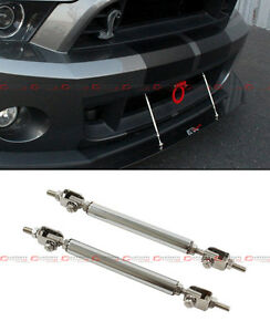 Silver Front Bumper Lip Splitter Strut Rod Tie Bar For Acura Integra Tsx Rsx Dc