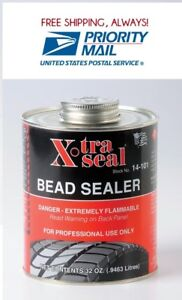 X Tra Seal Tire Bead Sealer Black With Brush 1 Quart Free Priority Ship Usa