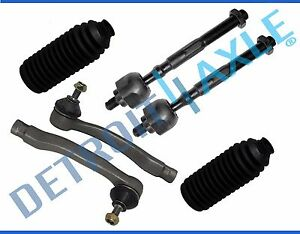 All 4 Front Inner Outer Tie Rod Ends Boots For 1998 2001 Acura Integra