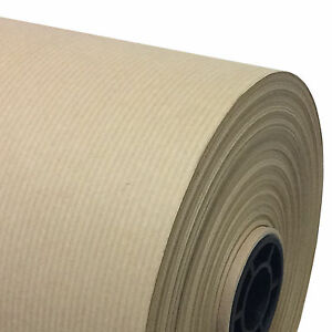 Pure Kraft Mg Ribbed Brown Wrapping Paper Roll Very Strong 90gsm